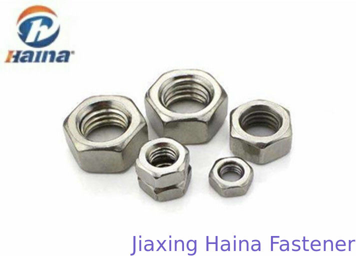 DIN934 Hex head nut Stainless Steel SS304 A2-70 Plain Color M6 Metric Thread