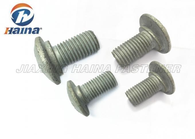 Black Oxidized Stainless Steel Custom Fasteners , Highway Guardrail Splice Bolts For Wire Rod