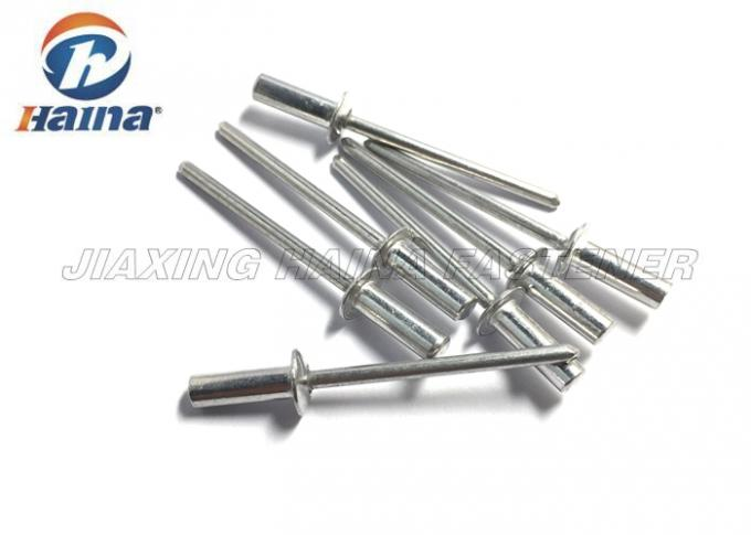 Aluminum Pop Rivets Round Body , Countersunk Head Closed End Rivet Cold Forging